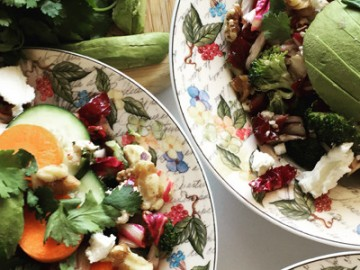 OBC Eats: Avocado and Goat Cheese Salad