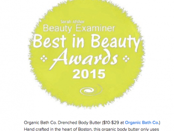 Drenched Body Butter Featured in Best in Beauty 2015 on Examiner.com